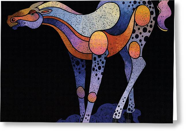 Blue Foal After Frans Marc Greeting Card
