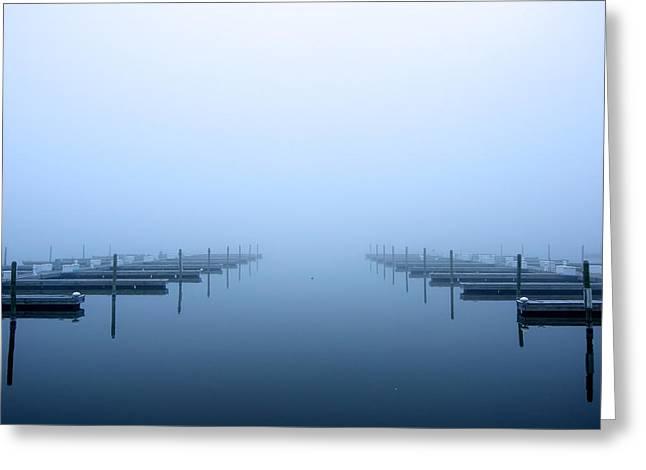 Blue Fog Greeting Card