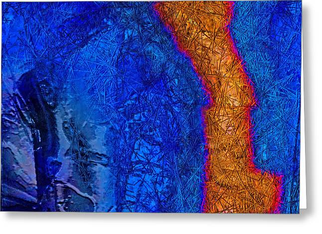 Blue Force Greeting Card by Dee Flouton