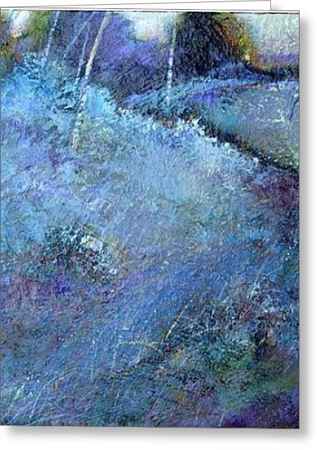 Blue Frost Greeting Card by Dale  Witherow