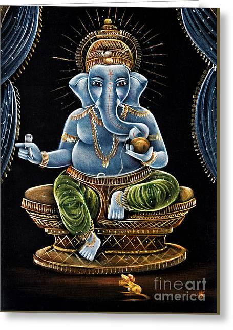 Shri Ganesha Greeting Card by Tim Gainey