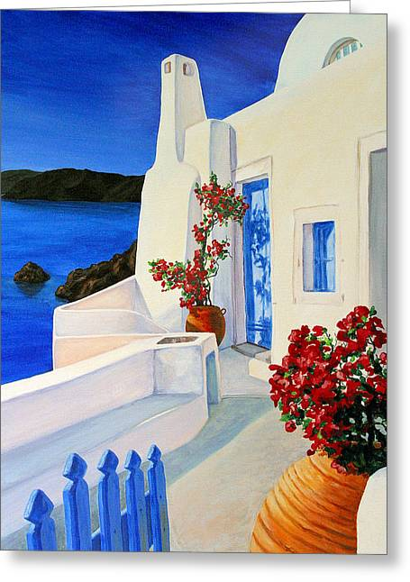 Blue Gate Greeting Card by Patrick Parker