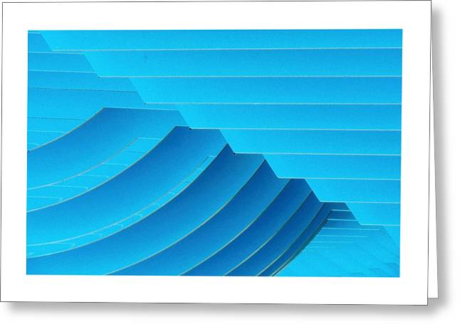 Blue Geometric Abstract 1 Greeting Card