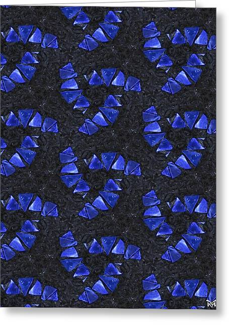 Blue Glass  Greeting Card by Maria Watt