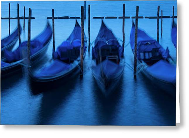 Greeting Card featuring the photograph Blue Gondolas by Brian Jannsen