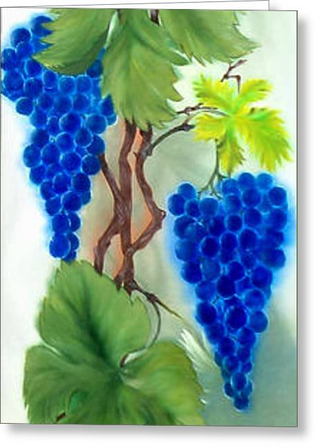 Blue Grape. Greeting Card by Angelina Roeders