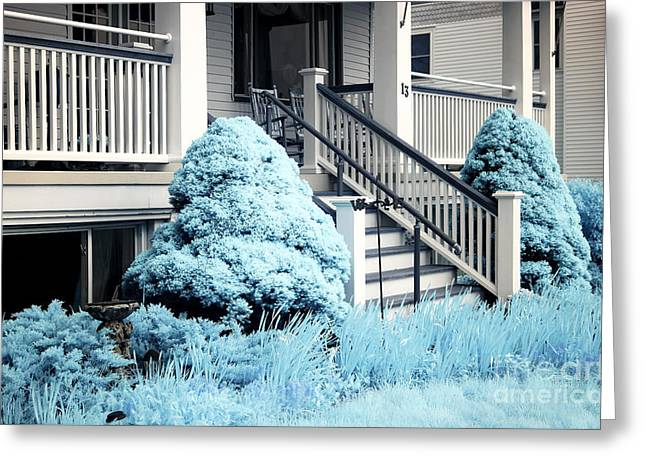 Blue Grass In Ocean Grove Greeting Card by John Rizzuto