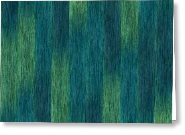 Blue Green Abstract 1 Greeting Card