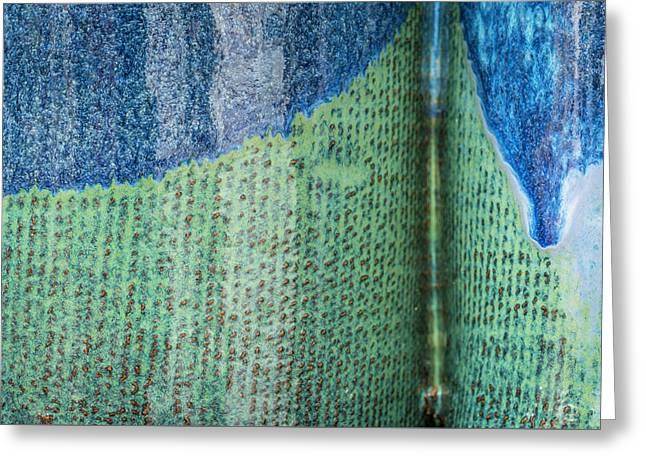 Greeting Card featuring the photograph Blue/green Abstract by David Waldrop