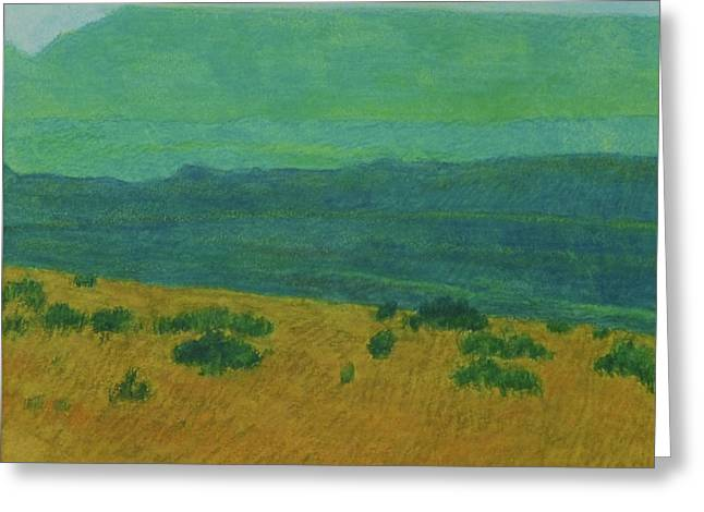 Greeting Card featuring the painting Blue-green Dakota Dream, 1 by Cris Fulton