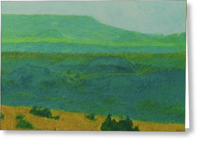 Blue-green Dakota Dream, 2 Greeting Card