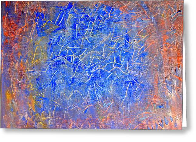 Blue Grooves Greeting Card by Marla McPherson