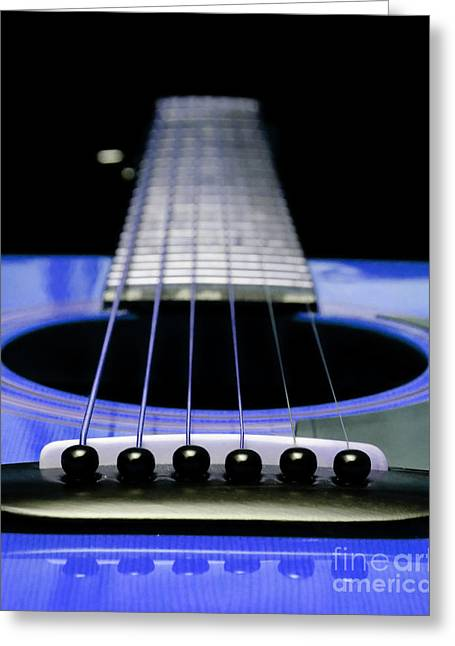 Andee Photography Greeting Cards - Blue Guitar 14 Greeting Card by Andee Design