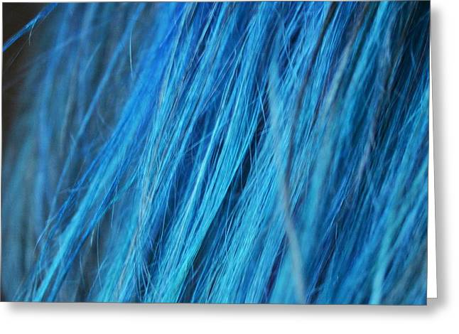 Blue Hair Greeting Card