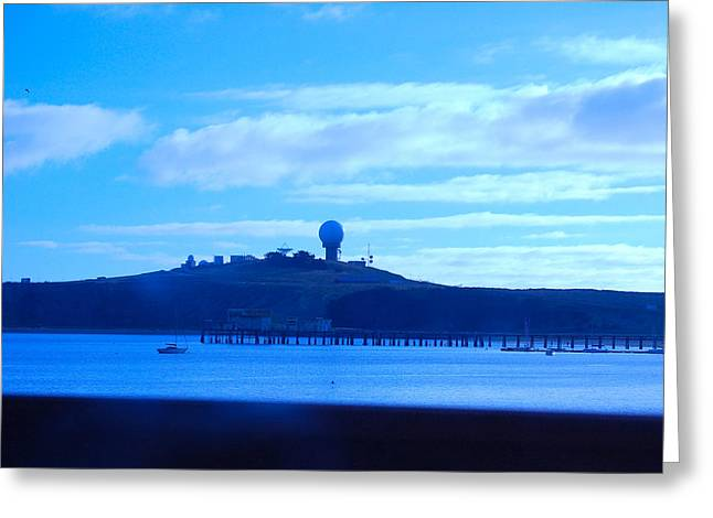 Blue Harbor Greeting Card by Carolyn Donnell
