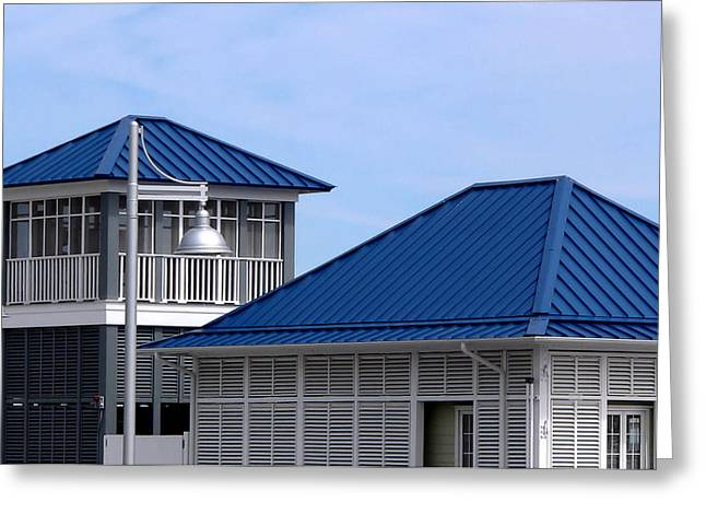 Blue Harbor Roofs Greeting Card