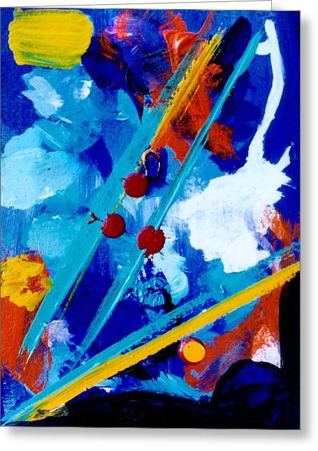 Blue Harmony  #128 Greeting Card by Donald k Hall