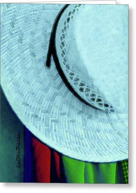 Blue Hat Painting Greeting Card
