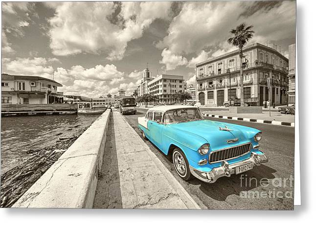 Blue Havana  Greeting Card by Rob Hawkins