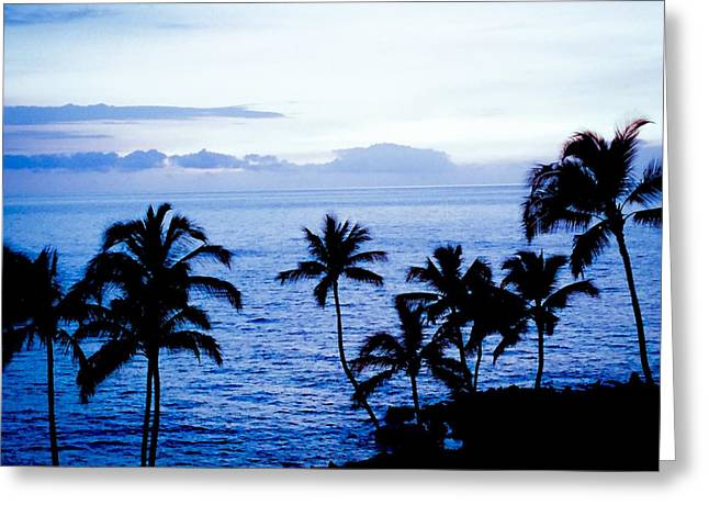 Blue Hawaii Greeting Card by Russell Keating