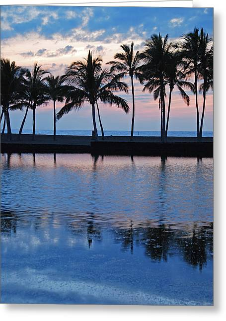 Blue Hawaiian Greeting Card by Kelly Wade