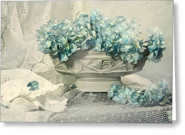 Blue Heart Greeting Card by Diana Angstadt