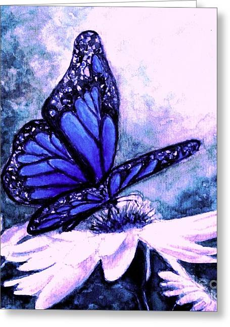 Blue Heaven Greeting Card by Hazel Holland