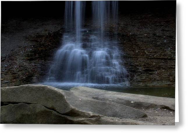 Blue Hen Falls Greeting Card by Dan Sproul