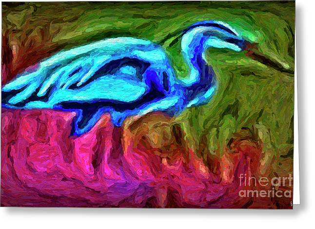Greeting Card featuring the photograph Blue Heron by Walt Foegelle