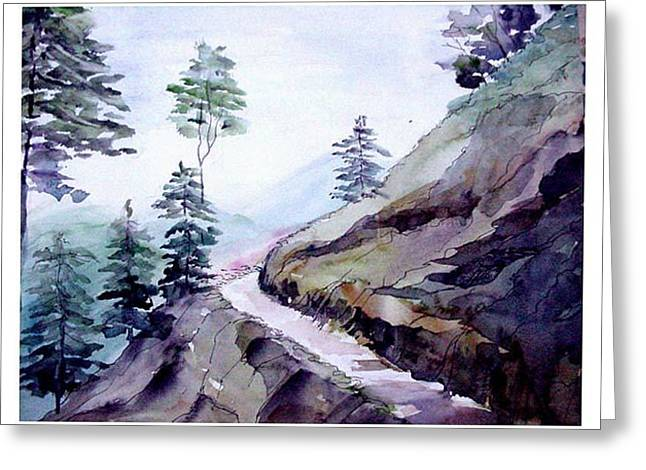 Blue Hills Greeting Card by Anil Nene