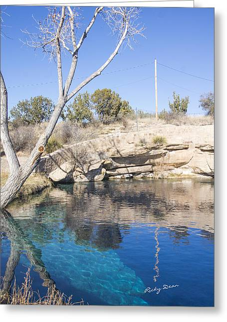 Blue Hole Greeting Card