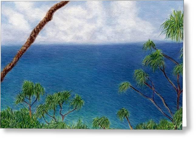 Blue Horizon Greeting Card by Kenneth Grzesik
