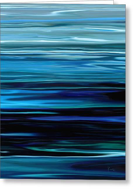 Blue Horrizon Greeting Card
