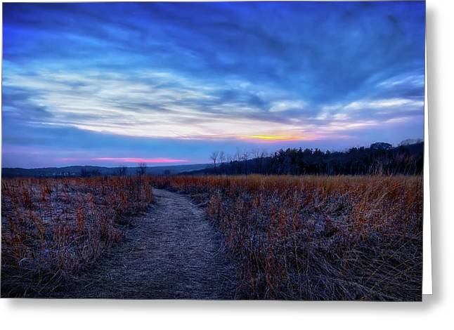 Blue Hour After Sunset At Retzer Nature Center Greeting Card by Jennifer Rondinelli Reilly - Fine Art Photography