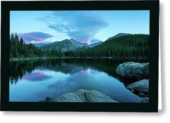 Blue Hour At Bear Lake-thomasschoeller.photography Greeting Card by Thomas Schoeller