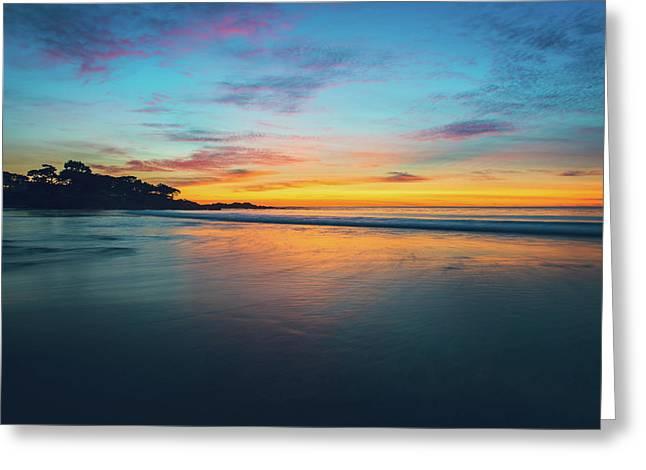 Blue Hour At Carmel, Ca Beach Greeting Card