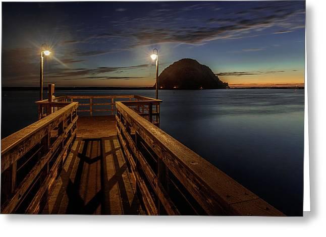 Blue Hour At Morro Bay Greeting Card