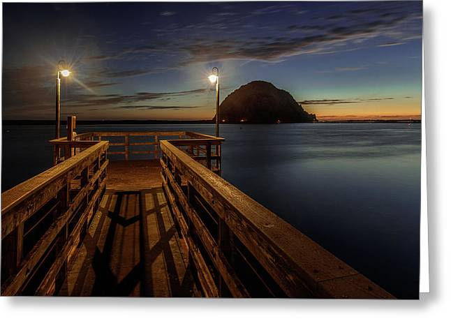 Blue Hour At Morro Bay Greeting Card