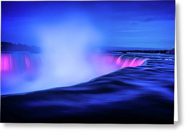 Blue Hour At Niagara Falls Greeting Card