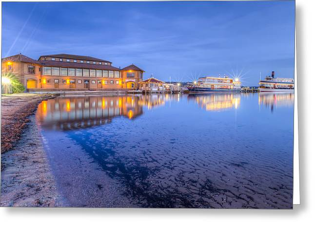Greeting Card featuring the photograph Blue Hour At The Riviera by Paul Schultz