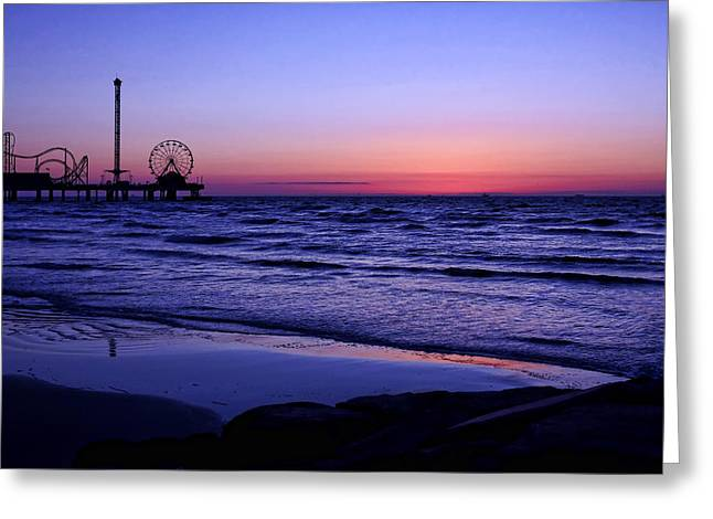 Blue Hour In Galveston Greeting Card