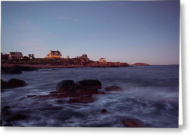 Blue Hour In Gloucester Greeting Card
