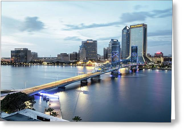 Blue Hour In Jacksonville Greeting Card