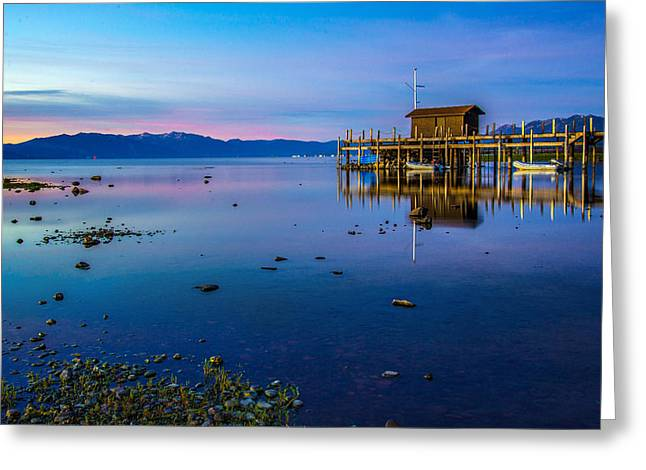 Blue Hour  Greeting Card