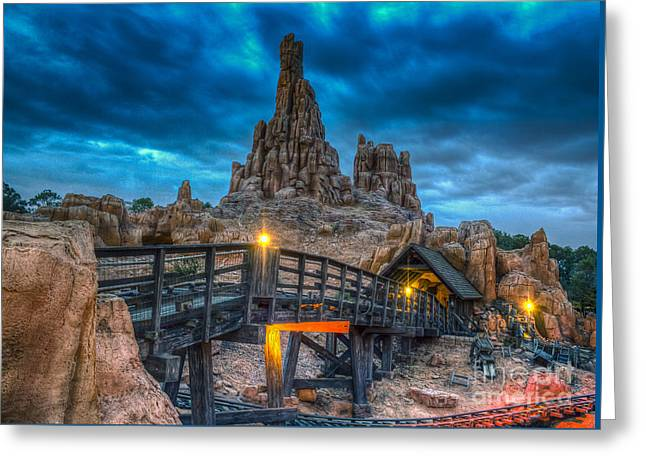 Blue Hour Over Big Thunder Mountain Greeting Card
