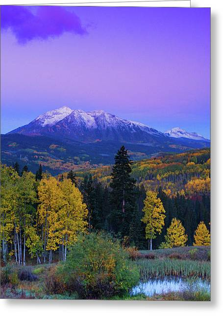 Blue Hour Over East Beckwith Greeting Card