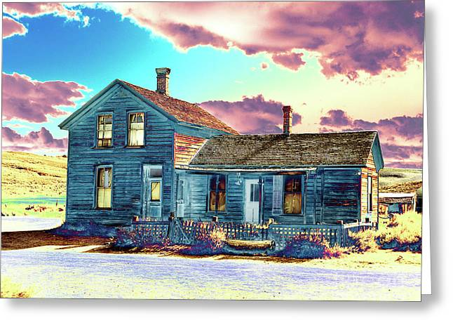 Greeting Card featuring the photograph Blue House by Jim and Emily Bush