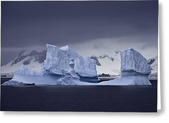 Blue Ice Antarctica Greeting Card