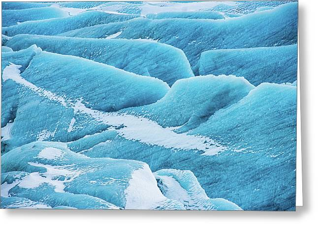 Greeting Card featuring the photograph Blue Ice Svinafellsjokull Glacier Iceland by Matthias Hauser