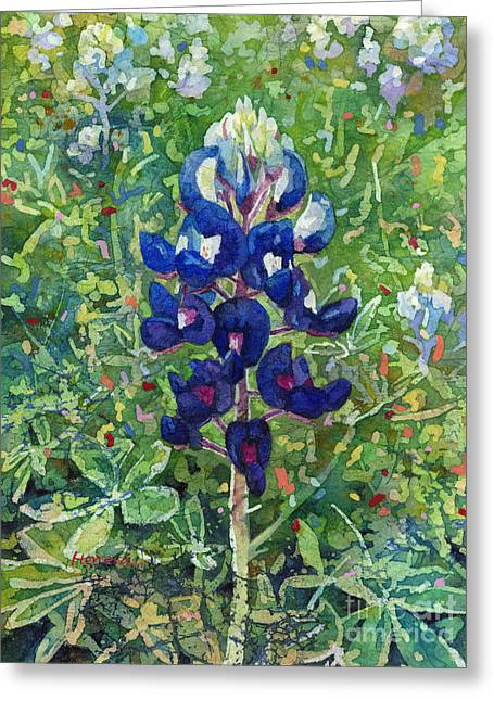 Blue In Bloom 2 Greeting Card